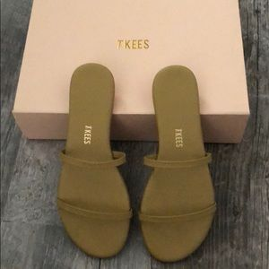 Tkees Leather Sandals in Mustard